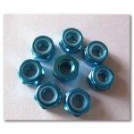 Radmuttern M3 Blau 8 Stück