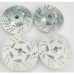 6 Kant Mitnehmer Aluminium mit Bremsscheiben