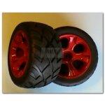 Reifen+Felgen 1:10 Splinter - Rote Felgen